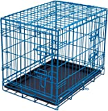 Internet's Best Wire Dog Kennel - Double Door Metal Steel Crates - Indoor Outdoor Pet Home - Folding and Collapsible Cage
