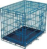 Internet's Best Wire Dog Kennel - Double Door Metal Steel Crates - Indoor Outdoor Pet Home - Folding and Collapsible…