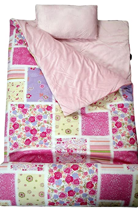 pretty nice 1a1e7 04313 SoHo kids Windsor Floral children sleeping slumber bag with pillow and  carrying case lightweight foldable for sleep over