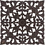 MH London Medallion Wall Décor Art - Hand-Carved Wood Accent Contemporary Artwork - Rustic Shabby Chic Panel for Living…