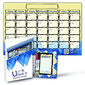 amazon dry erase board毎月のカレンダー磁気冷蔵庫 11 x17