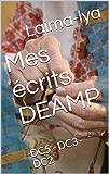 Mes écrits DEAMP: DC5 - DC3 - DC2