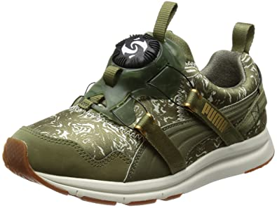 Puma Disc NC Swirl blace Sneaker Women Trainers 357289 01 green, Olive, EUR 40