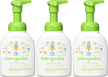Babyganics Foaming Hand Soap Fragrance Free 8 Ounce Pump Bottle