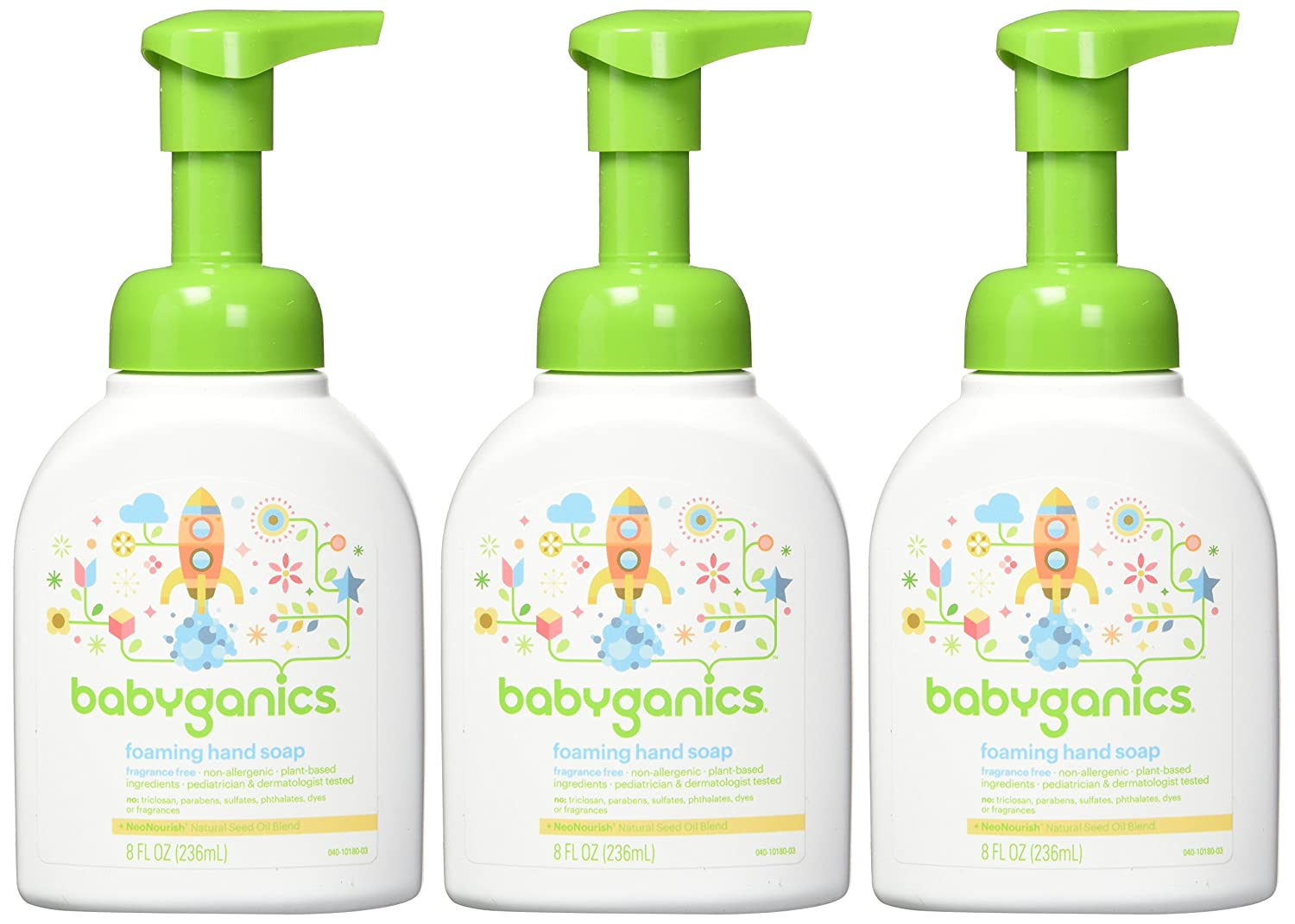 Babyganics Foaming Hand Soap 8 -Ounce Chamomile Verbena (Pack of 3)