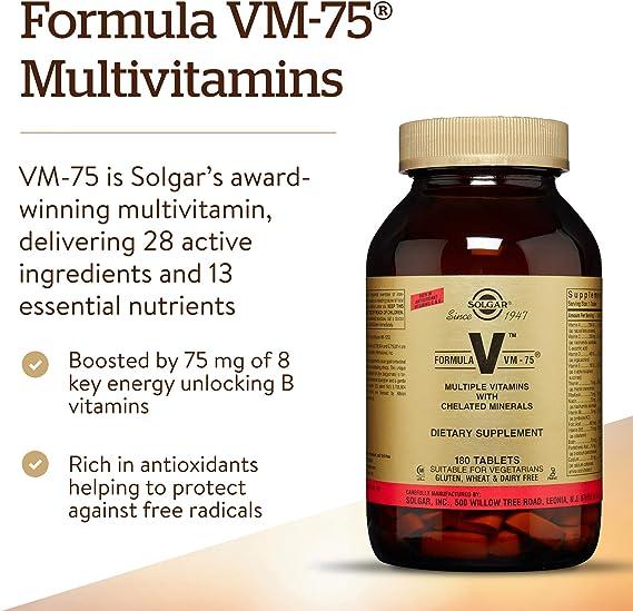 Solgar Fórmula VM-75-180 Tabletas: Amazon.es: Salud y cuidado personal