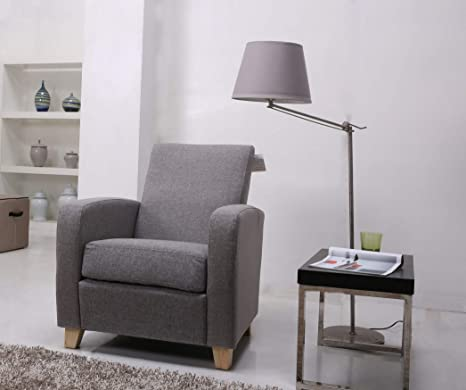 Leader Lifestyle Lennon Sillón de Tela, Color Gris: Amazon ...