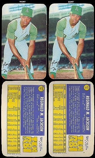 1970 Topps Super Baseball Card 28 Reggie Jackson Of The