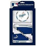 Baby Fanatic MLB Velcro-Closure Bib and High-Top Pre-Walker Set, Los Angeles Dodgers, Team Color