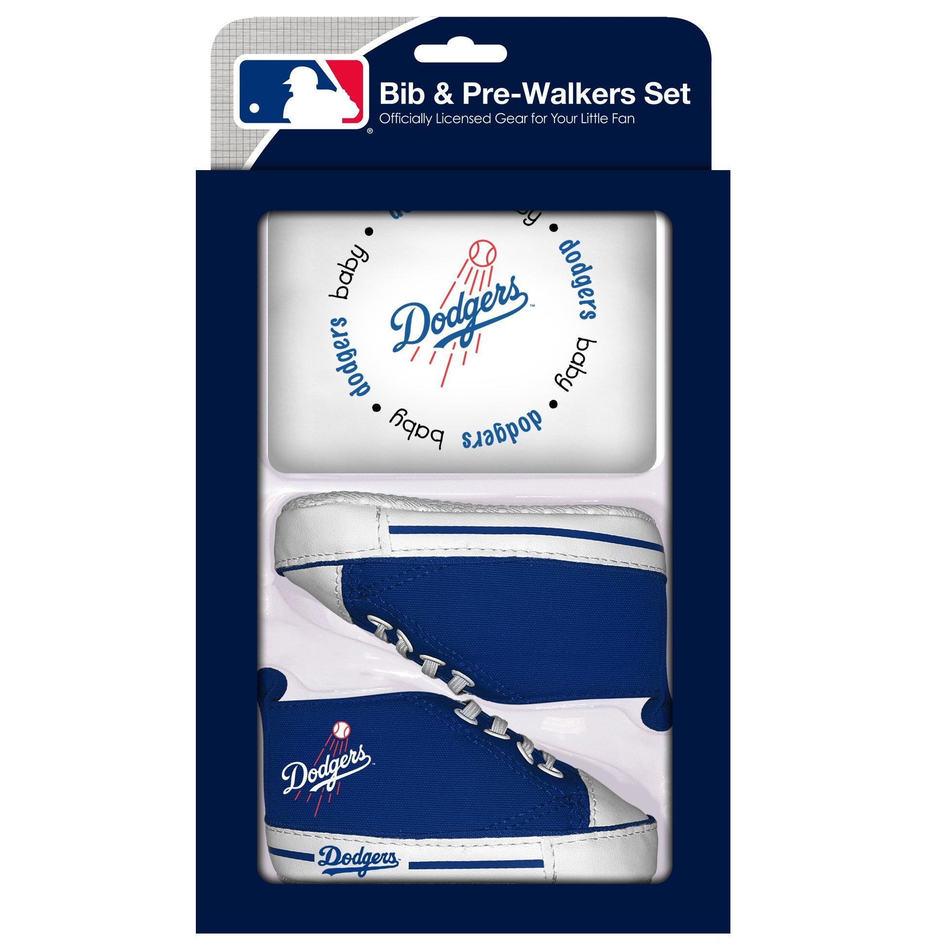 Amazon baby fanatic pacifier set mlb los angeles dodgers baby baby fanatic mlb velcro closure bib and high top pre walker set buycottarizona Image collections