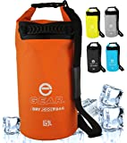Enthusiast Gear Roll Top Insulated Backpack Cooler Dry Bag – Leak Proof, Collapsible, Waterproof with Padded Shoulder…