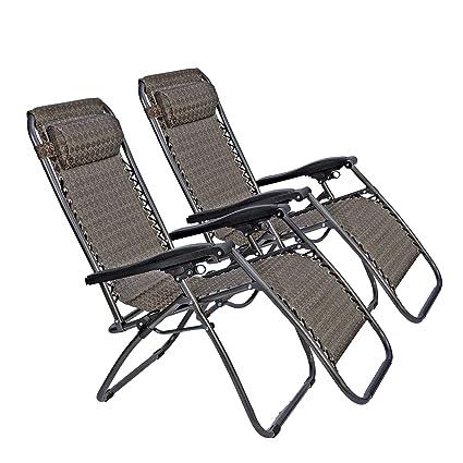 Amazon.com: LUCKYERMORE - Juego de 2 sillas plegables y ...