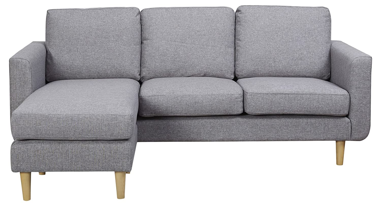 Cool Leader Lifestyle Harry Corner Sofa In Pepper Grey Fabric Evergreenethics Interior Chair Design Evergreenethicsorg