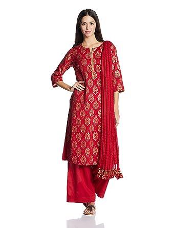89e8cf9aa BIBA Women s Straight Salwar Suit  Amazon.in  Clothing   Accessories