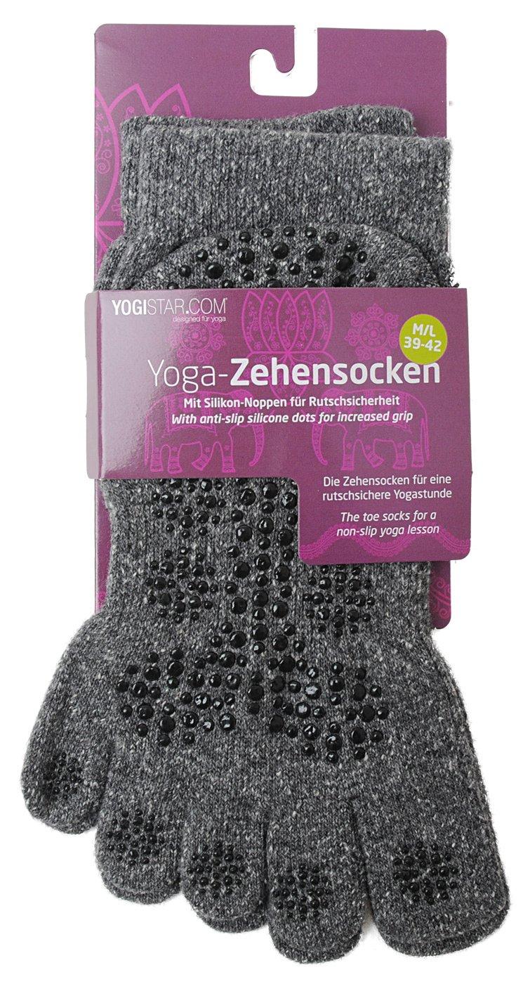 YOGISTAR Yoga Zehensocken graphit