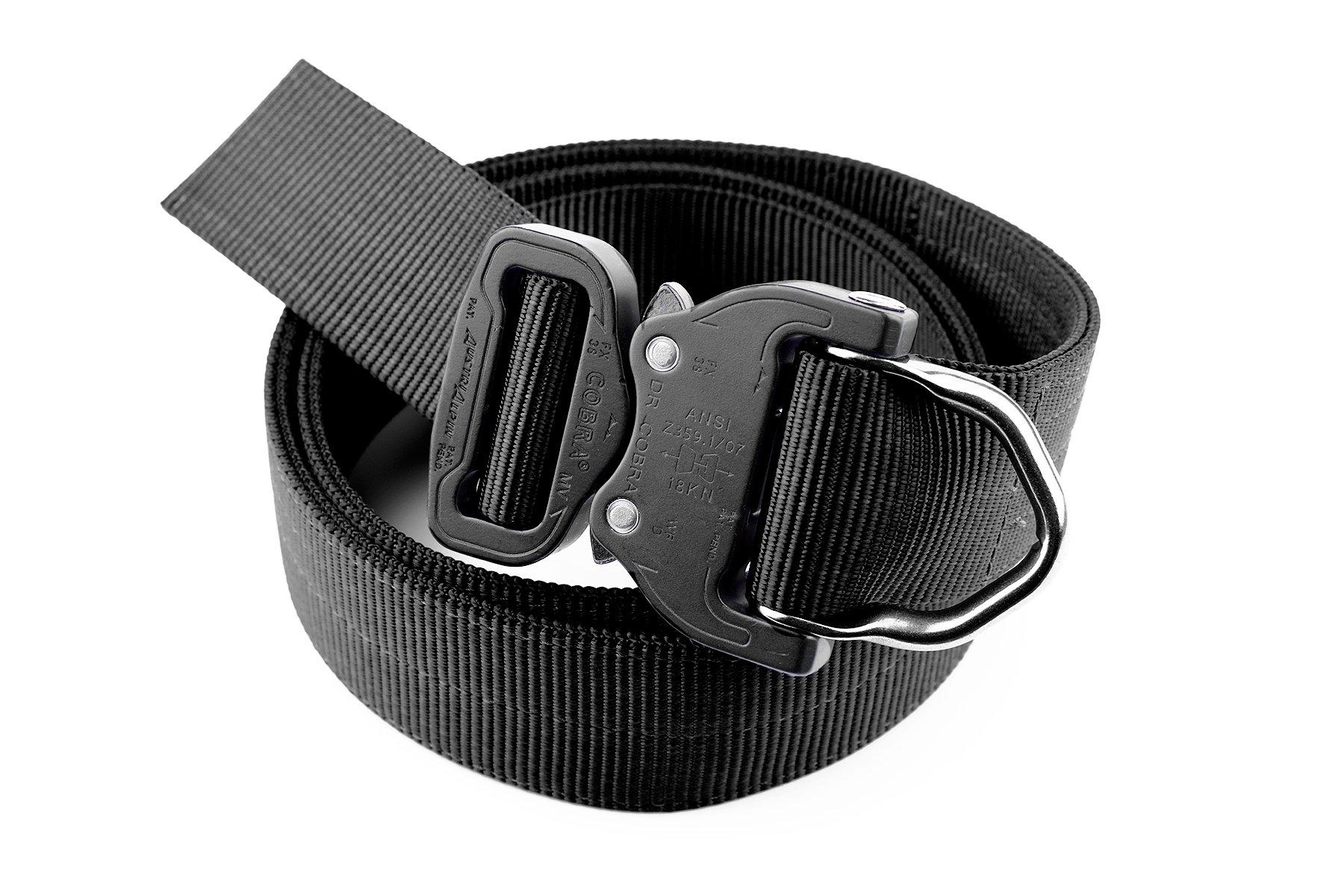 Cobra Quick Release Buckle Men's Tactical Belt -2 PLY 1.5'' D-Ring Riggers Belt