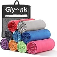 Glymnis Mikrofaser Handtücher Sporthandtuch Strandhandtuch Viele Größen und Farben für Sport Yoga Sauna Fitness und Strand schnelltrocknend saugfähig weich