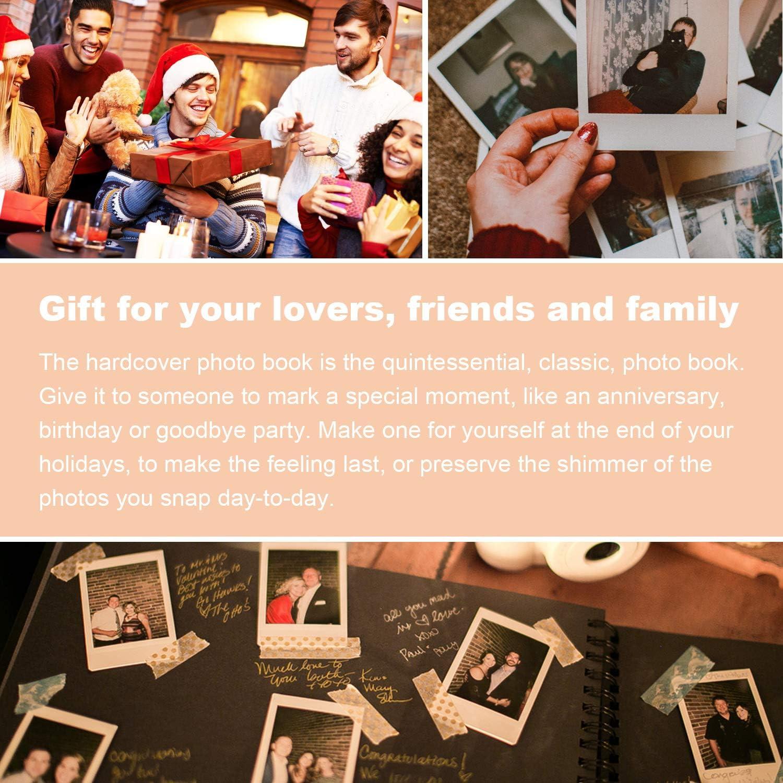 Photo Corners Included Scrapbook Album 8x11 inch Morfone Photo Album Scrapbook 80 Black Pages Wedding Guest Book Anniversary DIY Memory Book