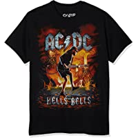 Liquid Blue Mens 31837 Ac/Dc Rock Eruption Short Sleeve T-Shirt Short Sleeve T-Shirt