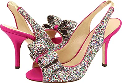 26bdac46f167 Amazon.com: Kate Spade New York Women's Charm Heel Multi Sparkle ...
