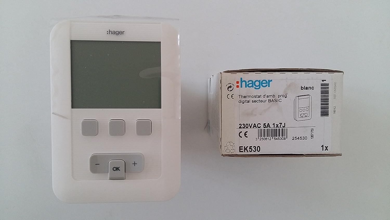 Hager sas - Termostato de ambiente programable - HAGER ...