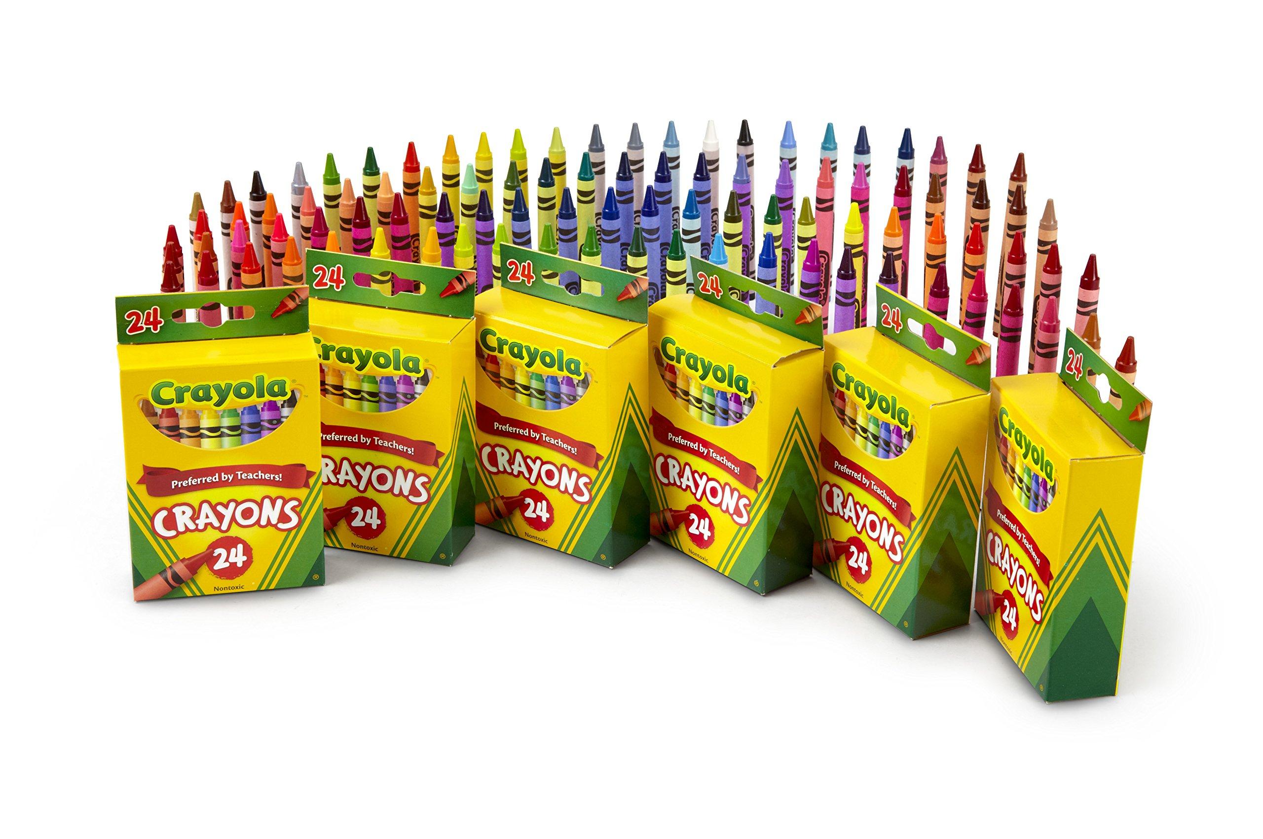Crayola Crayons, School & Art Supplies, Bulk 6 Pack of 24Count by Crayola