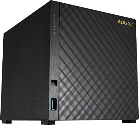 Asustor AS1004T NAS Ethernet Negro Servidor de Almacenamiento Unidad de Disco Duro, Serial ATA II, Serial ATA III, 3.5, 32 TB, 0, 1, 5, 6, 10, JBOD, FAT32,HFS+,NTFS,ext3,ext4 Unidad Raid