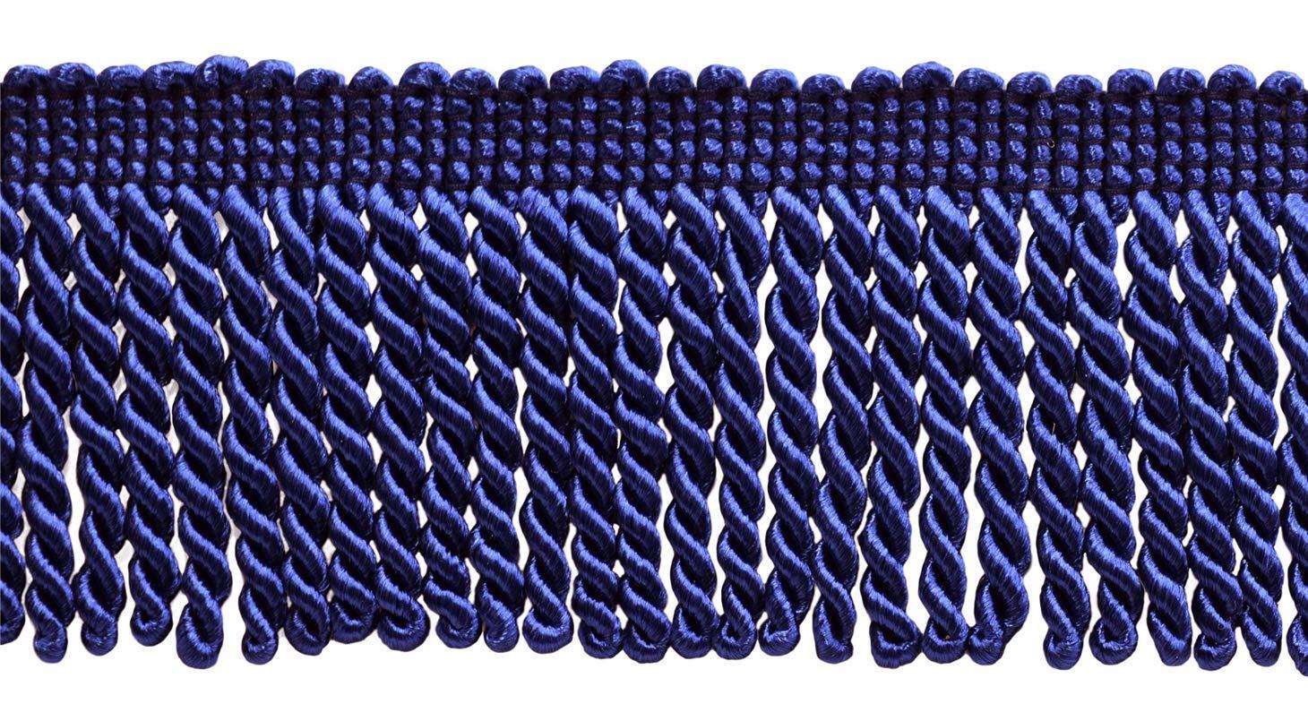 J4 Style# EF25 Color: Royal Blue 30 Ft // 9.1 Meters D/ÉCOPRO 10 Yard Value Pack of Ultramarine Blue 2.5 Inch Bullion Fringe Trim