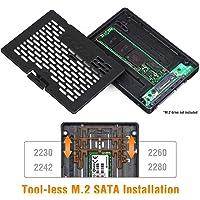 "Icy Dock Ezconvert (Tool-Less) M.2 SATA SSD to 2.5"" SATA SSD Converter Adapter Bracket Case Enclosure - MB703M2P-B"