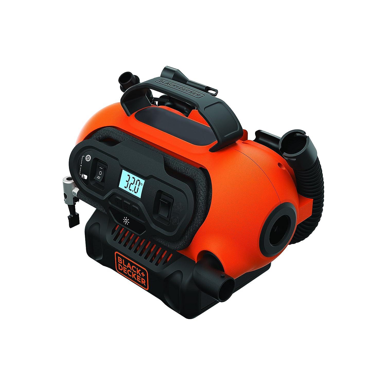Black+Decker BDCINF18N-QS - Compresor de Aire 160 PSI, Corriente CA/CC 230V/12V y Corriente CC para baterías 18 V: Amazon.es: Coche y moto