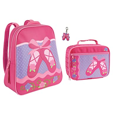 ae4972583080 Stephen Joseph Girls Ballet Backpack and Lunch Box with Ballet Shoes Zipper  Pull
