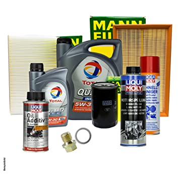 6L total 5 W de 30 + Filtro + Juego de accesorios para Kia Carens II FJ 2.0 Crdi: Amazon.es: Coche y moto