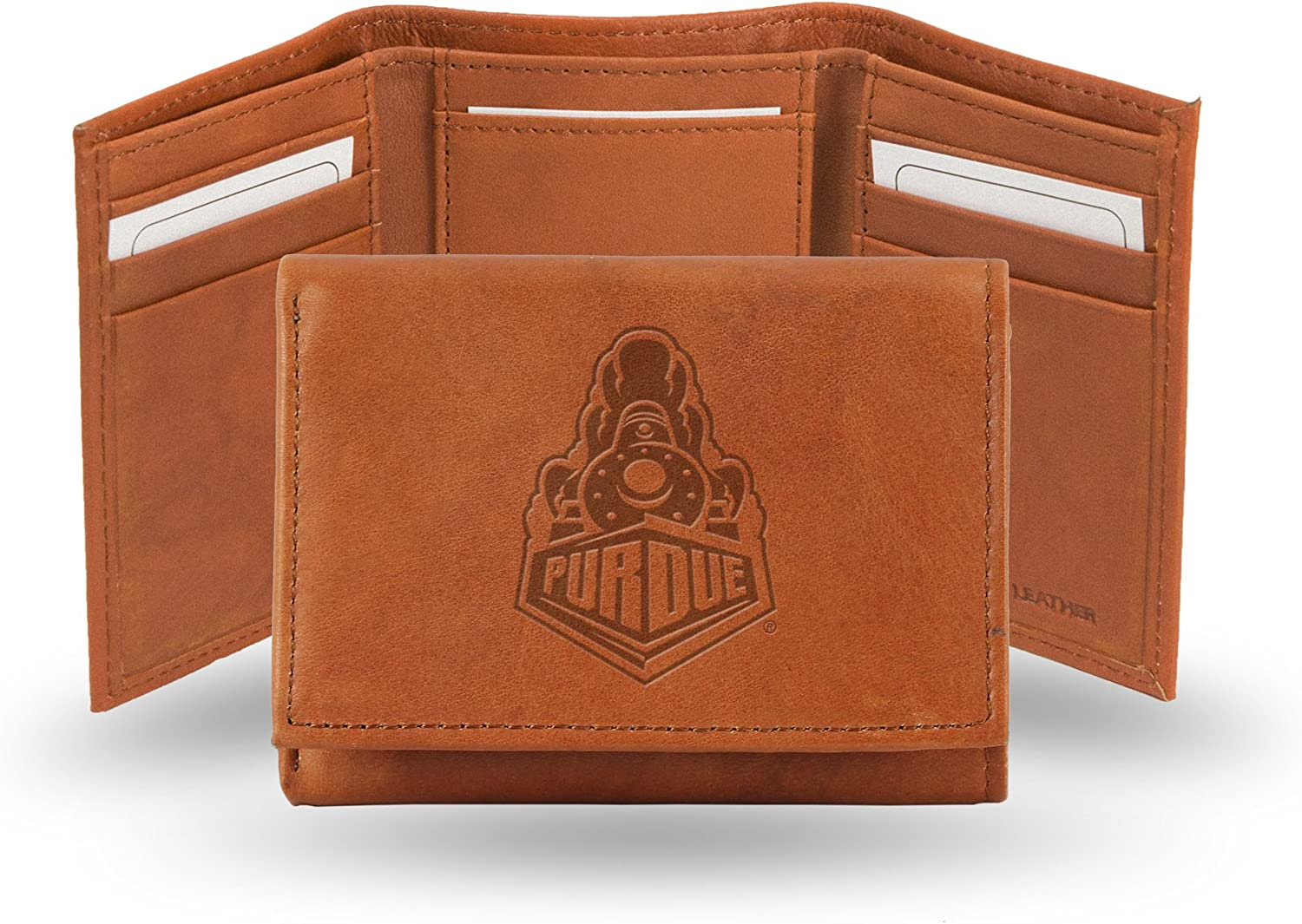 Rico Industries NCAA Alabama Crimson Tide Embossed Leather Trifold Wallet, Tan