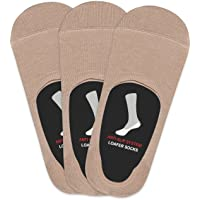 Balenzia Men's Cotton No Show Socks with Anti Slip Silicon System - Pack of 3 (Invisible/Loafer Socks