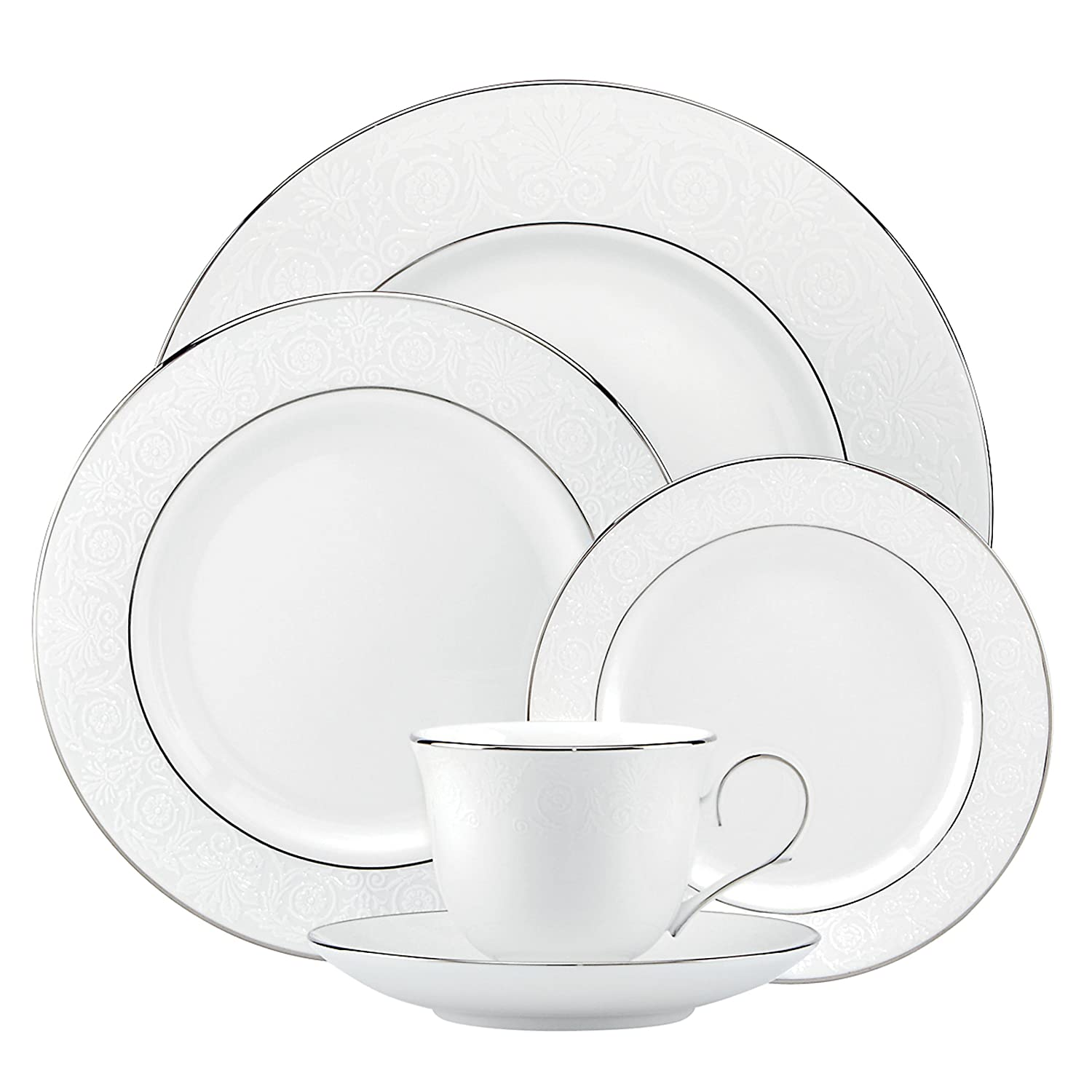 Amazon.com: Lenox 837593 Artemis 5-Piece Place Setting, White ...