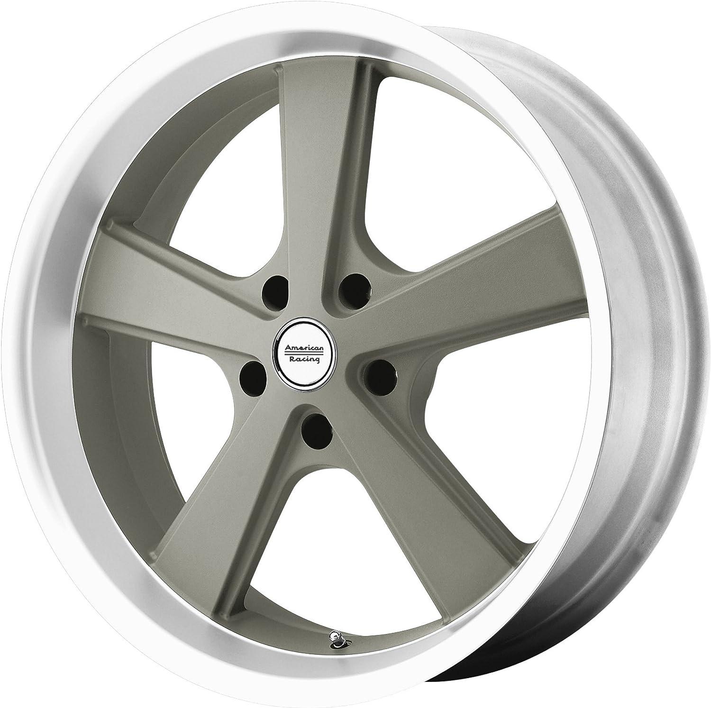 "American Racing Hot Rod Nova Mag Gray Wheel with Machined (18x9""/5x4.5"")"