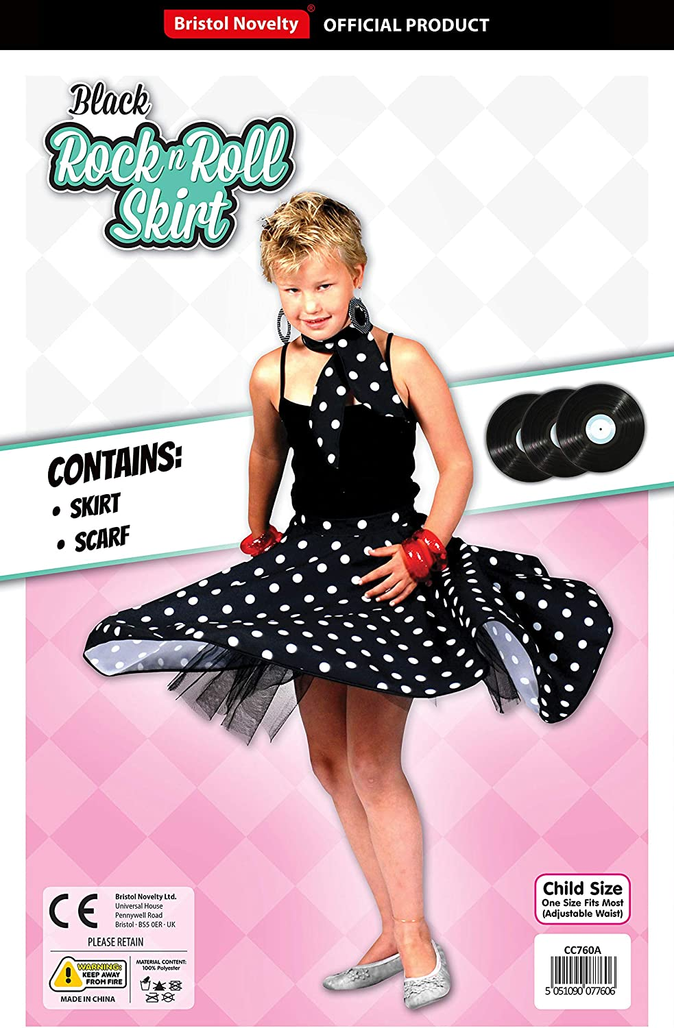 Theme Fancy Dress Disfraz de niña con falda de lunares de Rock n ...