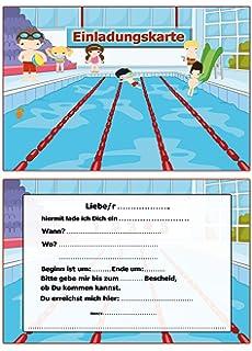 Elegant Einladung Kindergeburtstag Schwimmbad Schwimmen Einladungskarten 10