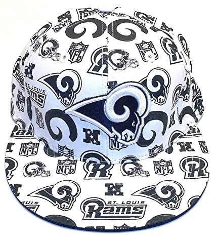 e84476244d9218 Amazon.com : St. Louis Rams Multi Logo Fitted Reebok Hat Size 7 3/8 :  Sports Fan Baseball Caps : Sports & Outdoors