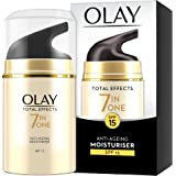 Olay 7-in-1 Total Effects Anti-Ageing Day Cream Moisturiser, Fights The 7 Signs of Ageing for Radiant Skin with SPF15, 50 ml