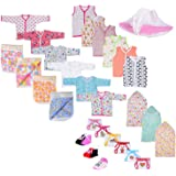 FARETO First Step New Born Baby Gift Set Combo Pack Of 7 Items For Newborn (0-6Month)