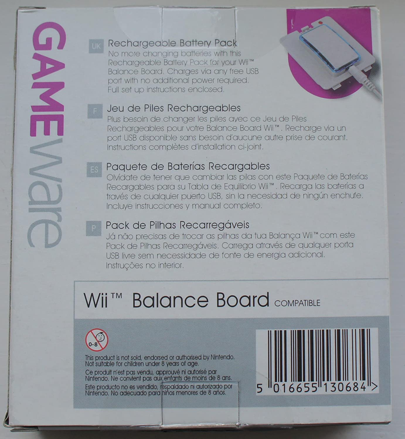 gameware rechargeable battery pack wii balance board compatible rh amazon co uk Wii Remote Instruction Guide Copy Wii Instruction Manual