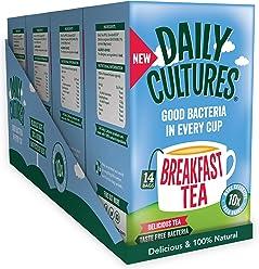 Daily Cultures Breakfast Tea. 4 Packs – 56 Sachets