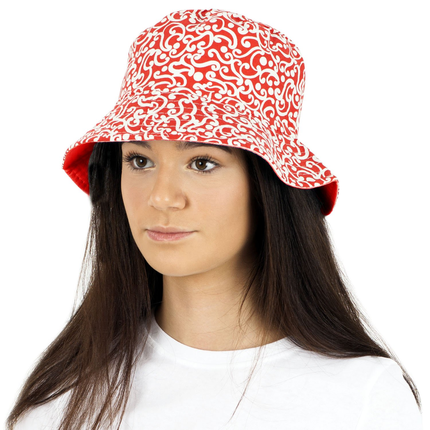 TOSKATOK UPF 50+ Ladies Women's Reversible Cotton Batik Bush Bucket Sun Hat