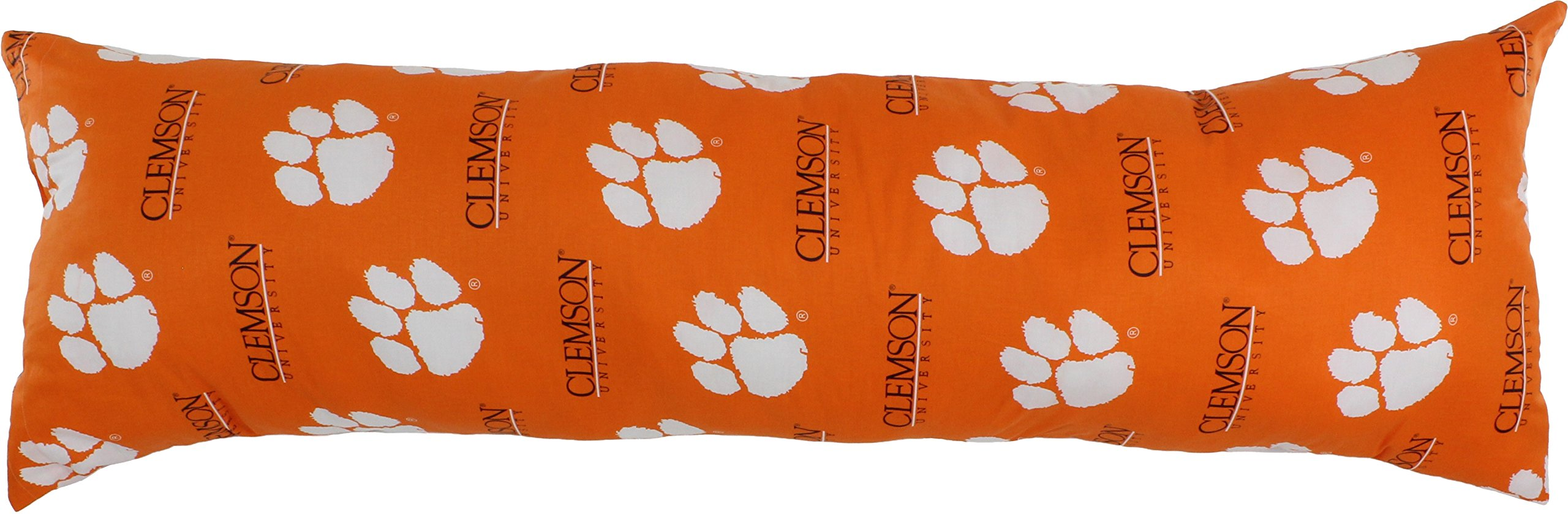 College Covers Clemson Tigers Printed Body Pillow, 20'' x 60''