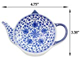 Teapot-Shaped Tea Bag Coasters (4-Pack); Blue