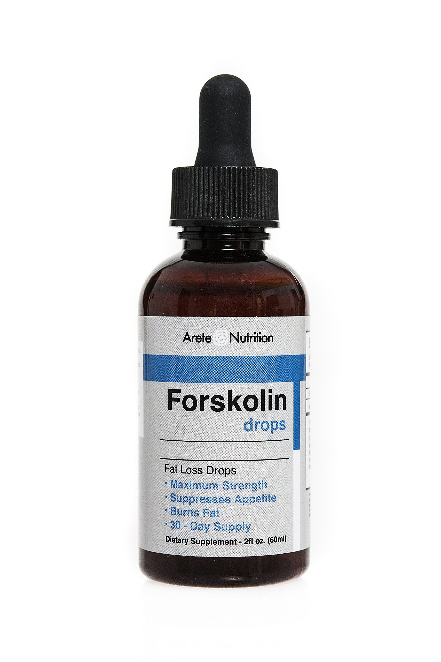 Arete Forskolin Liquid Drops Extract Natural Appetite Control - 100% Natural Weightloss Fast Absorbing Sublinguel Supplement by Arete Nutrition - Live Healthy Products