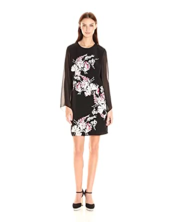Vince camuto women 39 s chiffon sleeve winter gerland dress at amazon women s clothing store - Gerlands corporate office ...