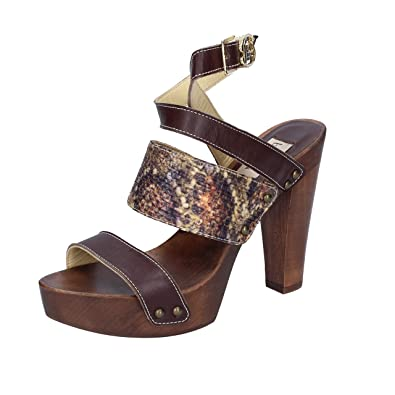 649d0ef6ae1f Amazon.com | Braccialini Sandals Womens Leather Brown | Sandals