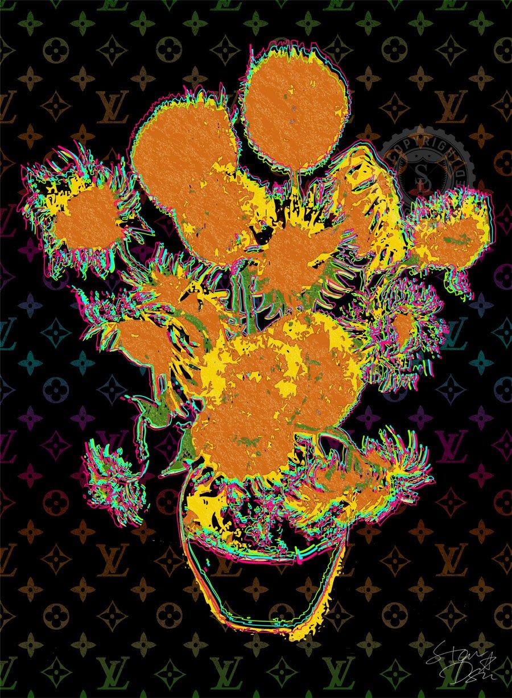 STAR DESIGN #sh10/11 GOGH ART ゴッホ ひまわり Louis Vuitton オマージュポスター A1サイズ(594×841mm) カラー sh11b B01LADO51U A1(594×841mm)|sh11b sh11b A1(594×841mm)